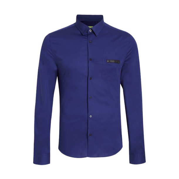 dcd5534a Versace Jeans Casual Shirts, Navy Solid Pop Solid Shirt for Men at ...