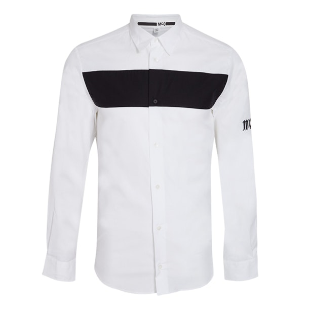 983622599a72 Mcq Casual Shirts, White Chest Striped Shirt for Men at Thecollective.in