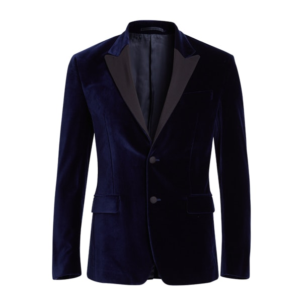73a1b273f Versace Collection Suits And Blazers, Navy Velvet Formal Jacket for ...