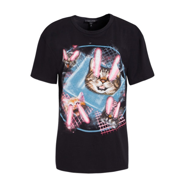 7f130ff19a46 Marc Jacobs Tops, Black Laser Cat T-Shirt for Women at Thecollective.in