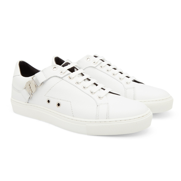 Versace Collection Shoes, White Leather Sneakers Medusa ...