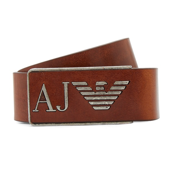 675febea Armani Jeans Belts & Buckle, Brown AJ Integrated Buckle Belt for Men ...