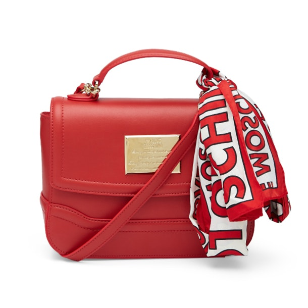 4fe7339b2 Love Moschino Bags, Red Shoulder Hand Bag With Scarf for Women at ...