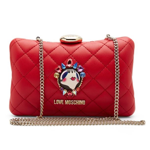 bc0c2ceeba Love Moschino Bags, Red Doll Face Clutch Chain Bag for Women at ...