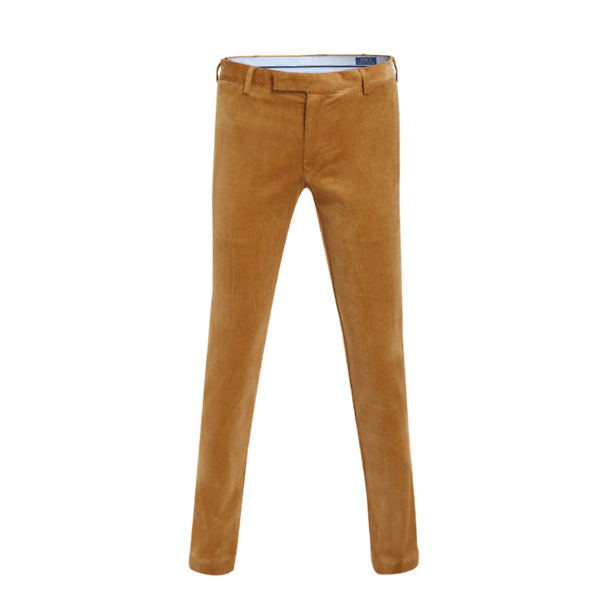 TrousersTan Stretch Ralph Lauren Fit Polo Corduroy Hudson Slim OkPXZiu