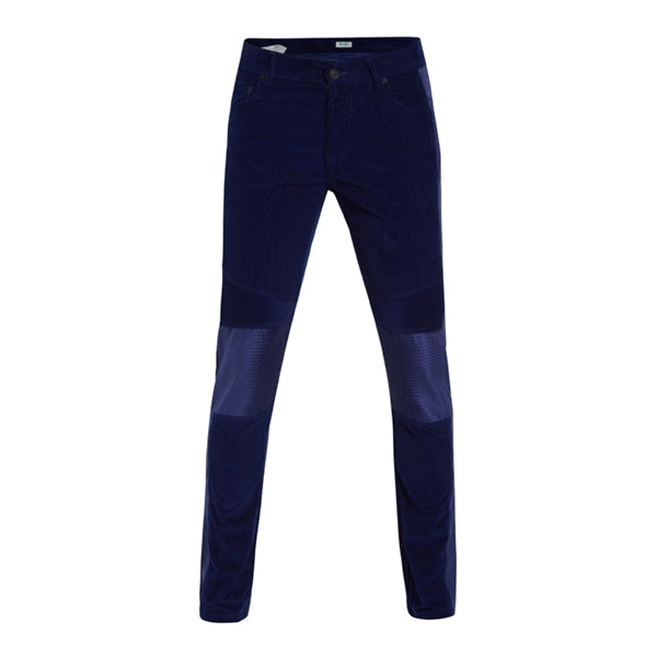 ad6cae016 Kenzo Jeans, Navy Corduroy Biker Jeans for Men at Thecollective.in