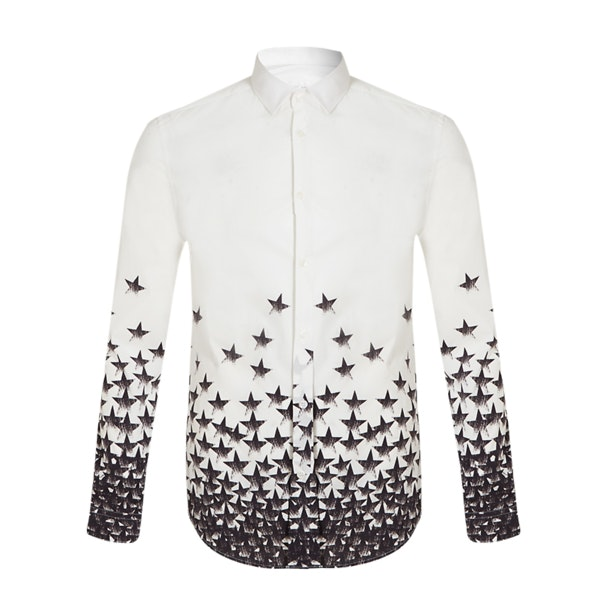 2b105bcd2a Versace Collection Casual Shirts, White Star Degrade Casual Shirt ...