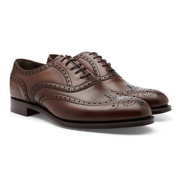 aecec35dca185 Joseph Cheaney Shoes, Burnished Mocha Brogues for Men at ...