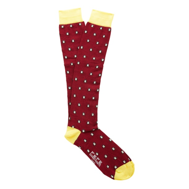 93f1a364d1590 Fefe Socks, Red Penguin Printed Socks for Men at Thecollective.in