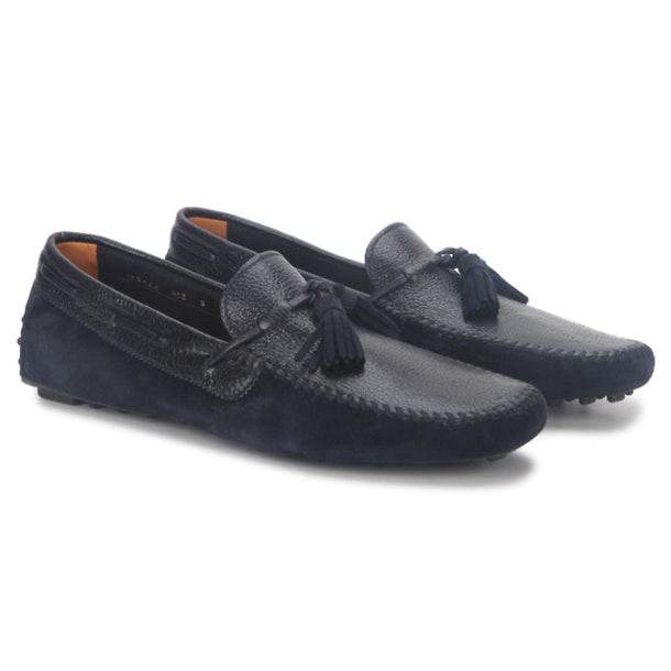 f166c2fcd12d Santoni Shoes, Navy Blue Formal Shoes for Men at Thecollective.in
