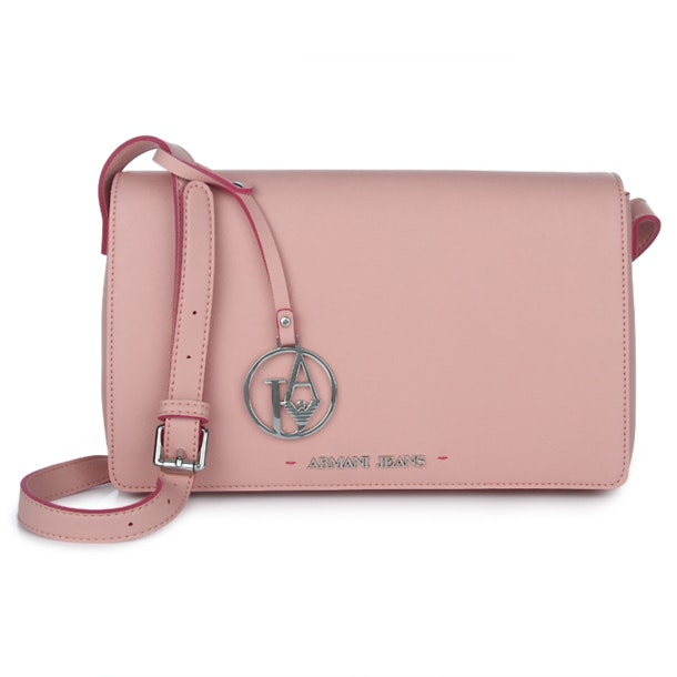 6b227779 Armani Jeans Bags, Pink Flap Messenger Bag In Saffiano for Women at ...