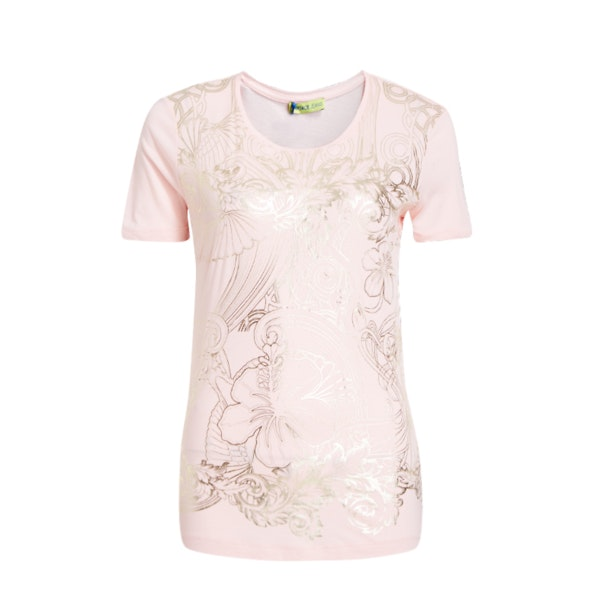 4635b7ca Versace Jeans Tops, Pink With Gold Foil Print T-Shirt for Women at ...
