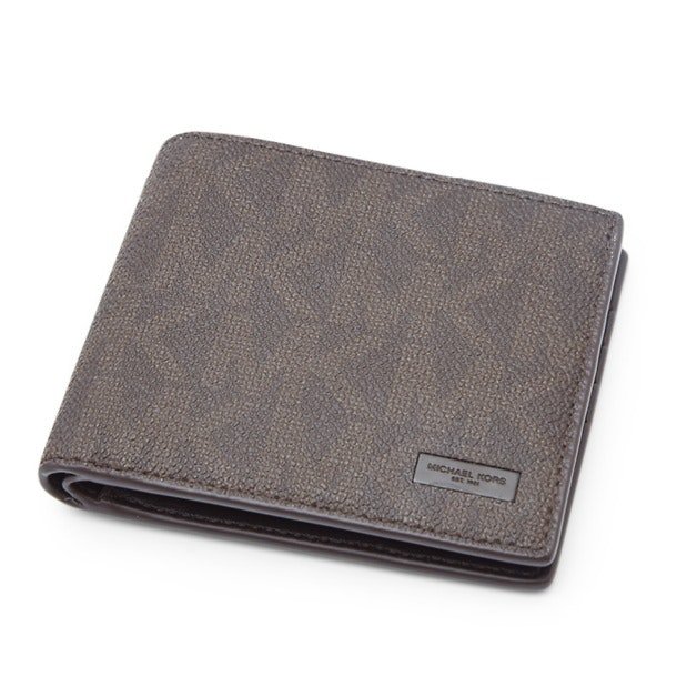 d41845e10fe2 Michael Kors Wallets, Brown MK Print Wallet for Men at Thecollective.in