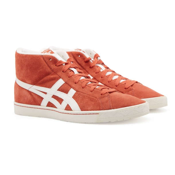 e6140288e9 Onitsuka Tiger Shoes, Brown Fabre R8 Sneakers for Men at ...