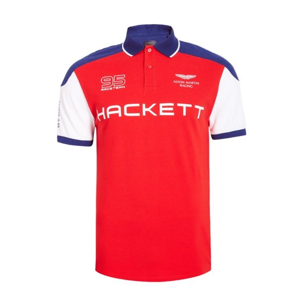 77a7ad1cc32 Hackett Polos, Red Aston Martin Racing Wings Polo T-Shirt for Men at ...