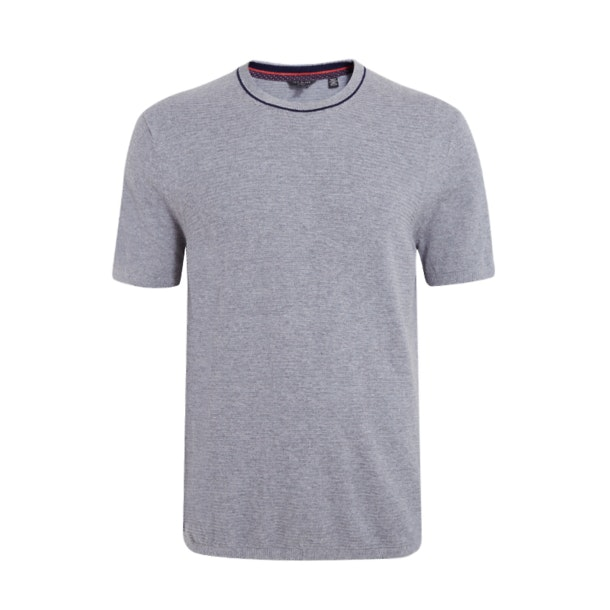 b1c1025a5 Ted Baker Knitwear, Grey Melange Zico Knitted T-Shirt for Men at ...