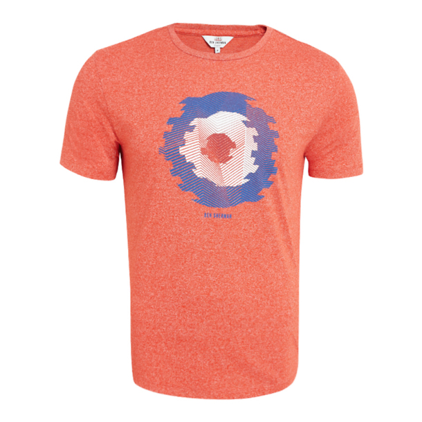 42a134a86 Ben Sherman T-Shirts, Orange Abstract Target T Shirt for Men at  Thecollective.in