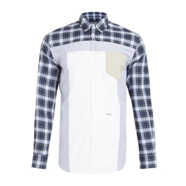 fb5fb8ff2f830c Dsquared 2 Casual Shirts, Blue Multi Pattern Shirt for Men at ...