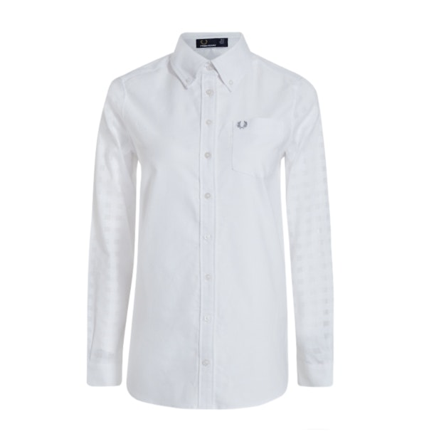 f45f3cfe Fred Perry Shirts, White Classic Shirt for Women at Thecollective.in