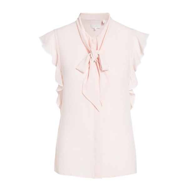 28332061efb Ted Baker Tops, Baby Pink Frill Sleeve Pussy Bow Shirt for Women at ...