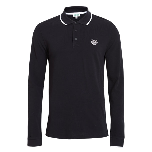 6eb4a78965 Kenzo Polos, Black Slim Fit Polo Tshirt for Men at Thecollective.in