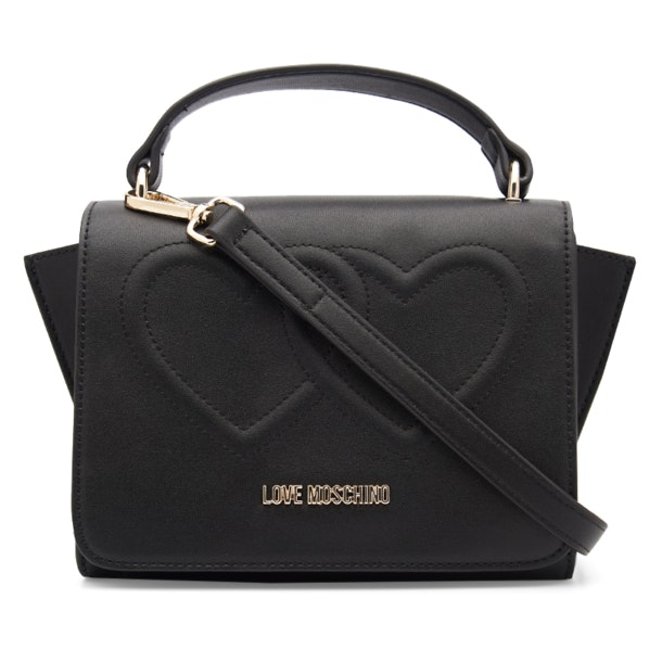 cb01c1b918 Love Moschino Bags, Embossed Heart Top Handle Sling Bag for Women at ...