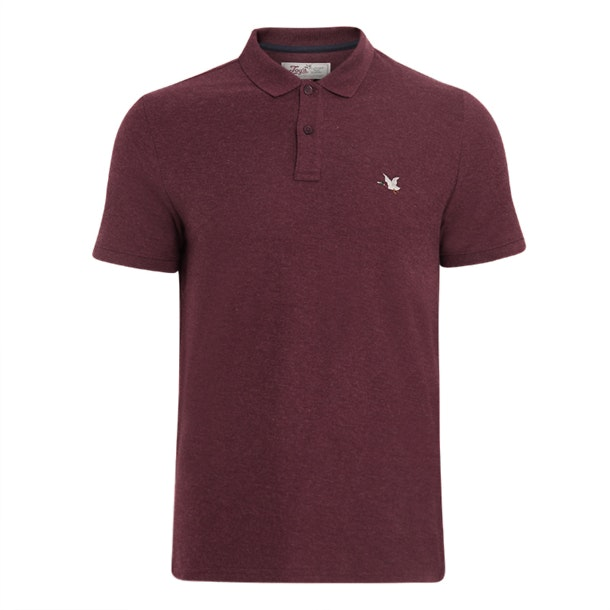 Chevignon Polos Wine Duck Logo Polo Tshirt For Men At Thecollective In