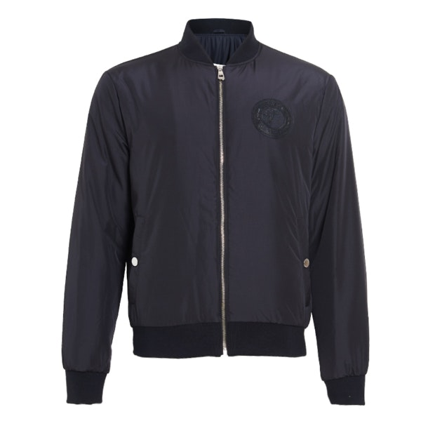 afd1dcace2 Versace Collection Jackets And Coats, Black Front Zipper Jacket for ...
