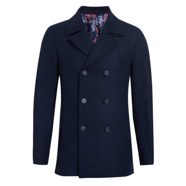 c019a58003b Ted Baker Jackets And Coats, Navy Zachary Wool Peacoat for Men at ...