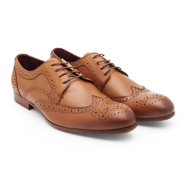 Ted Baker Formal Shoes, Tan Wingtrip Brogue Derby for Men at