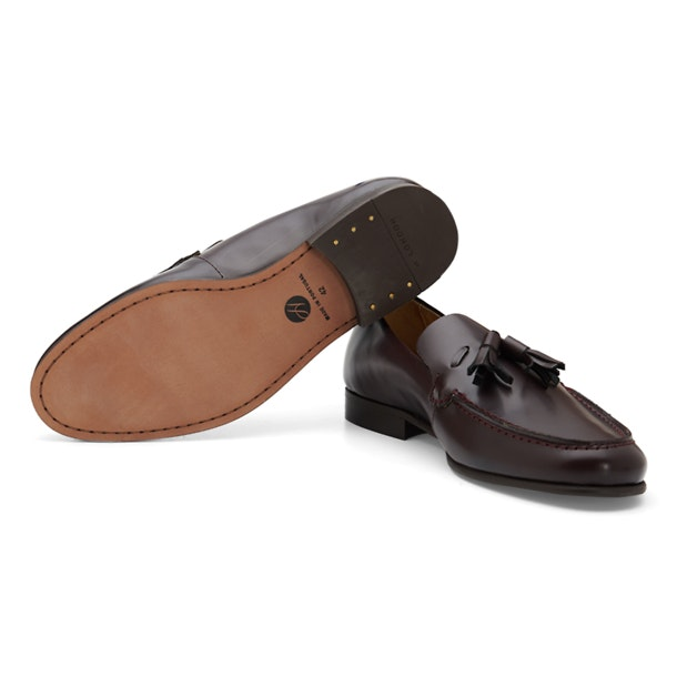 5e7112b0b44bf Hudson Shoes, Wine Tassel Loafers for Men at Thecollective.in
