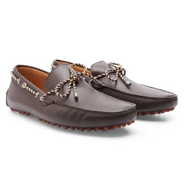 52725a5f1070c Patrizio Dolci Shoes, Brown Contrast Rope Loafers for Men at ...