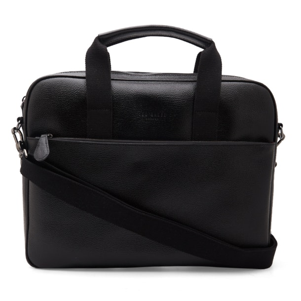 7c7b415cc02 Ted Baker Bags, Black Leather Document Bag for Men at Thecollective.in