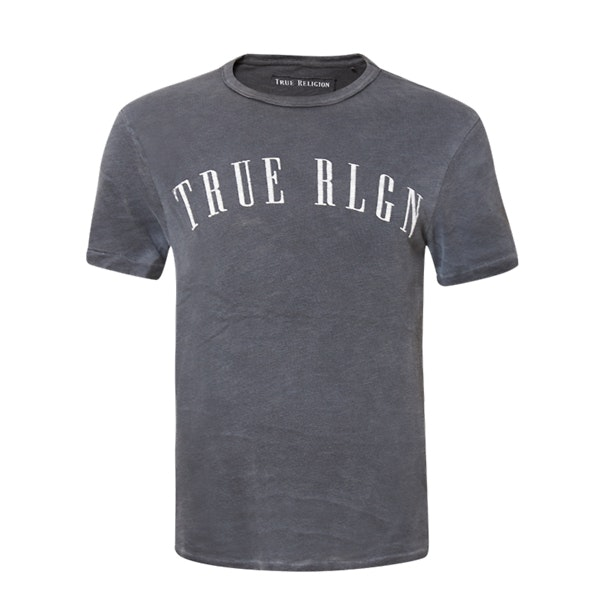 5c080e3fba2981 True Religion T-Shirts, Black TR Washed T Shirt for Men at ...