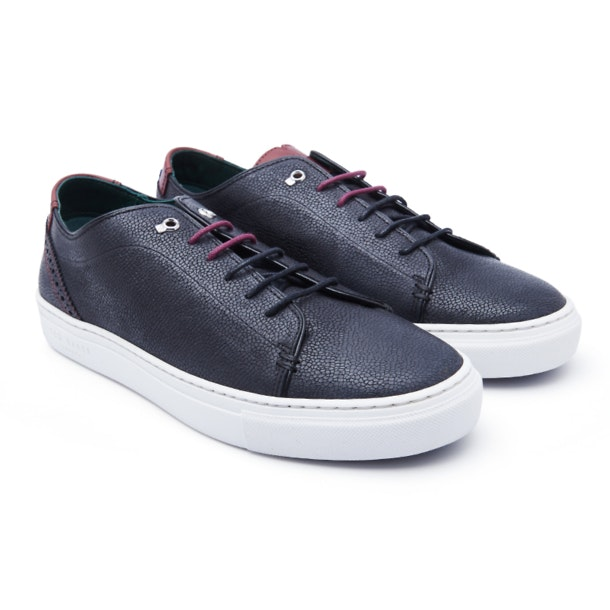 d34a54f7 Ted Baker Shoes, Black Leather Sneakers for Men at Thecollective.in