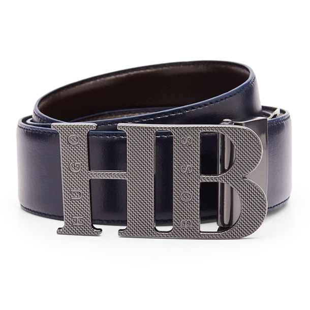 5add72d46 Hugo Boss Green Belts And Buckle, Navy HB Buckle Belt for Men at ...