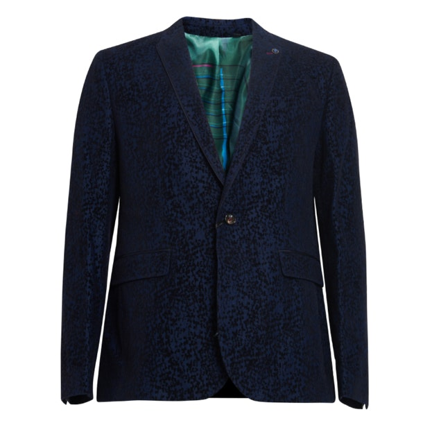 3ff4426b1449 Ted Baker Suits And Blazers, Navy Printed Formal Velvet Blazer for ...