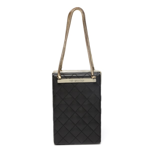 8ac1016304 Love Moschino Bags, Black Hard Case Vertical Clutch for Women at ...