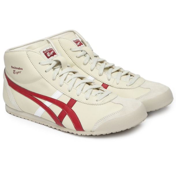 pas cher pour réduction 7ede3 deb05 Onitsuka Tiger Shoes, Cream Mexico Mid Runner for Men at ...