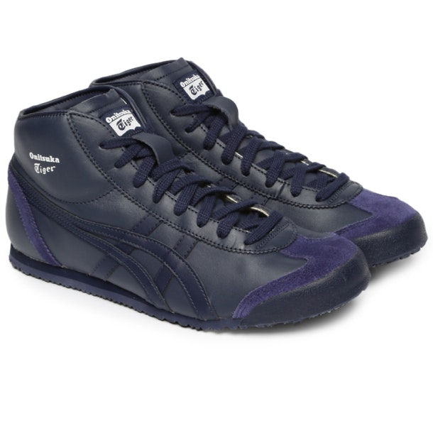 promo code d3dbd 65baa Onitsuka Tiger Shoes, Navy Mexico Mid Runner for Men at ...