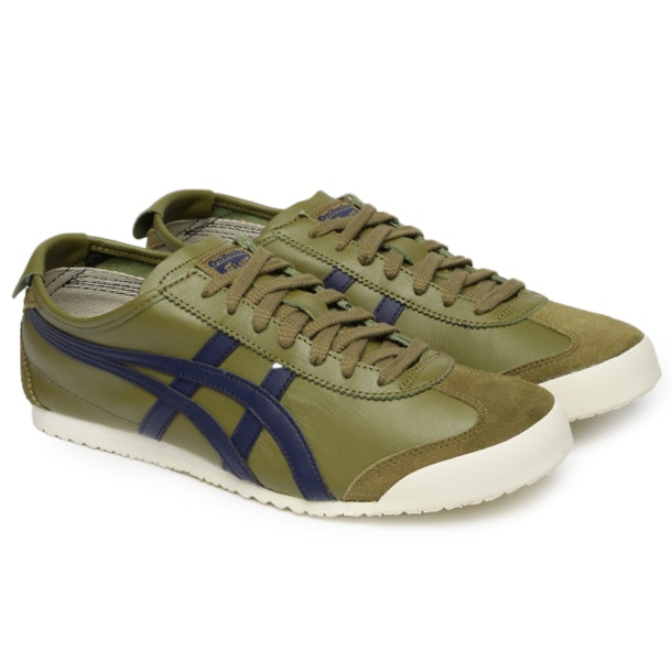 the latest 38a9f e3400 Onitsuka Tiger Shoes, Green Mexico 66 Sneakers for Men at ...