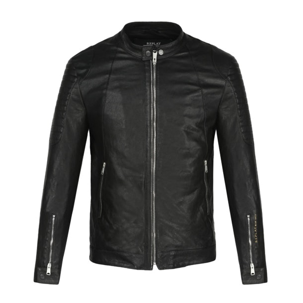 da4b65ff499 Replay Jackets And Coats, Black Faux Leather Jacket for Men at ...