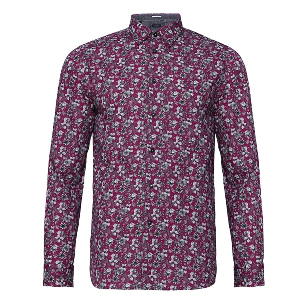 dcd39a52 Ted Baker Casual Shirts, Purple Floral Bellla Casual Shirt for Men ...