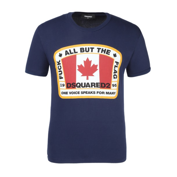 4f4dbea6749e Dsquared 2 T-Shirts, Navy Graphic T Shirt for Men at Thecollective.in