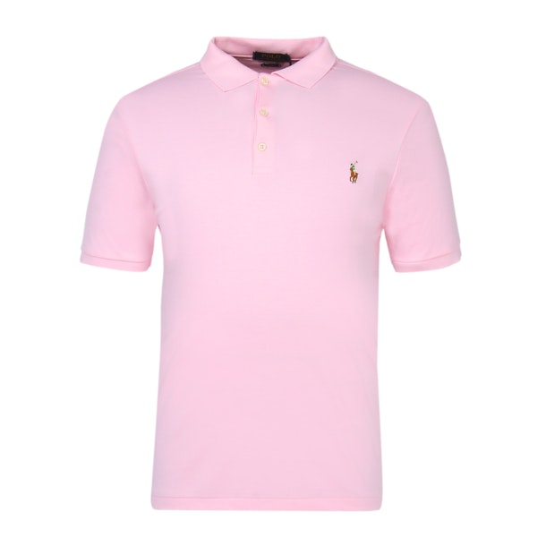 329ee836b2 Polo Ralph Lauren Polos, Pink Slim Fit Soft Touch Polo Shirt for Men ...