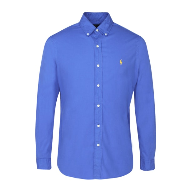 ae161249 Polo Ralph Lauren Casual Shirts, Blue Classic Fit Cotton Twill Shirt ...
