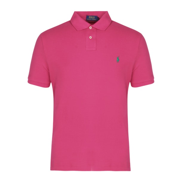 0f74536fe1 Polo Ralph Lauren Polos, Pink Custom Slim Fit Mesh Polo for Men at ...