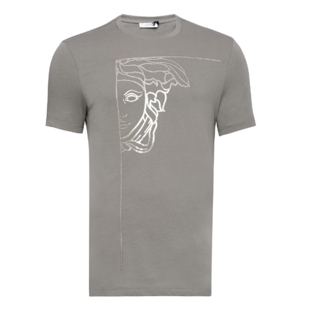 d7aa87ba Versace Collection T-Shirts, Half Medusa Print T Shirt for Men at ...