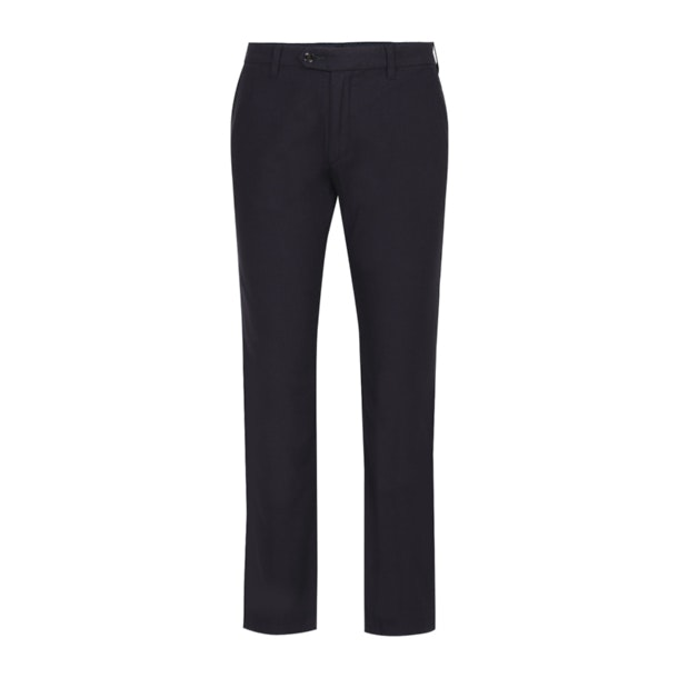 55d497096961 Navy Textured Trousers