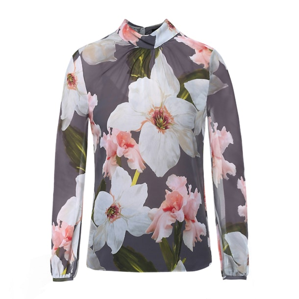1cd59f8195d7a5 Ted Baker Tops, Grey Floral Print Top for Women at Thecollective.in